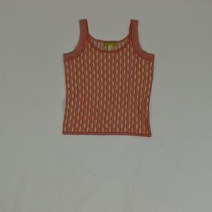 Sigrid Olsen Regular XS Orange   Blouse Silk Solid